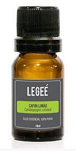LEGEÉ- Óleo essencial de Capim Limão (Cymbopogon citratus) ORGÂNICO - 10ml