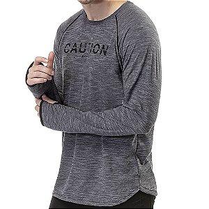 Camiseta Manga Longa Dedal TZE Mescla Escuro