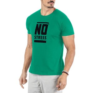 Camiseta Estampa Frontal Logo No Stress Verde