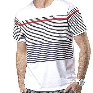 Camiseta Estampa Listras No Stress Branca