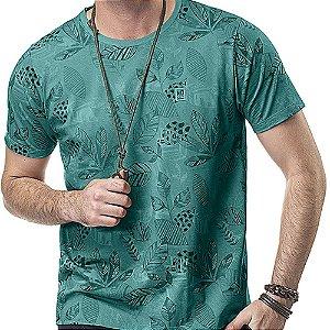 Camiseta Estampa Floral No Stress Verde