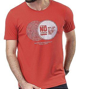 Camiseta Estampa Brilho No Stress Vermelha