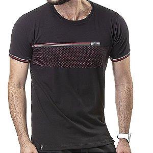 Camiseta Retilínea Estampa No Stress Preta