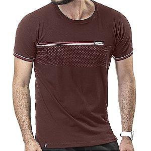 Camiseta Retilínea Estampa No Stress Vinho