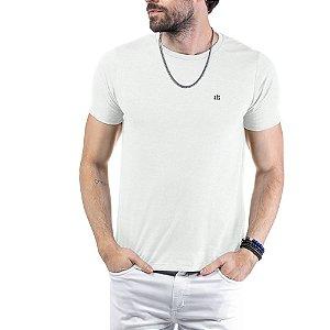 Camiseta Flamê c/ Plaquinha TZE Branca