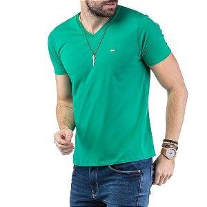 "Camiseta Decote ""V"" TZE Esmeralda"