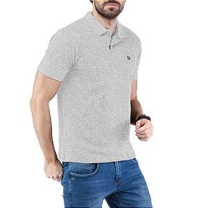 Camisa Polo Piquet Bordado TZE Cinza