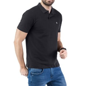 Camisa Polo Piquet Bordado TZE Preta