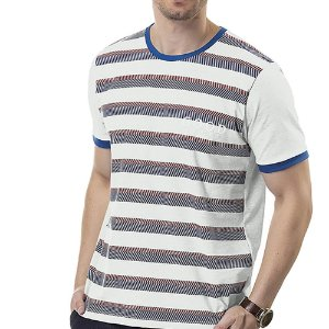 Camiseta Estampa Listras TZE Branca