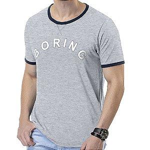 Camiseta Estampa Boring TZE Mescla