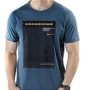 Camiseta Estampa Quadro TZE Azul
