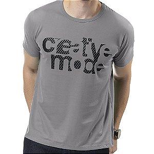Camiseta Estampa em Relevo TZE Cinza