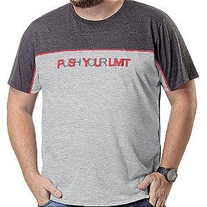 Camiseta Recorte Plus TZE Mescla