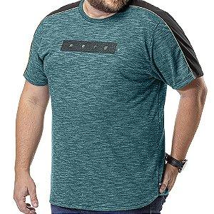 Camiseta Barra Arredondada Plus TZE Azul