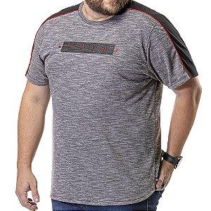 Camiseta Barra Arredondada Plus TZE Cinza