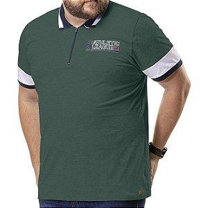 Camisa Polo Zíper Plus TZE Verde Militar