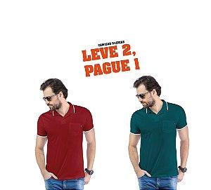 Camisa Polo Bolso TZE - Leve 2, Pague 1