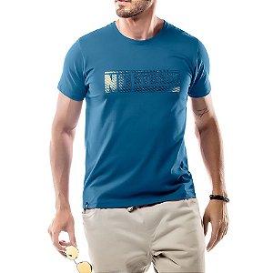 Camiseta Foil Logo No Stress Azul