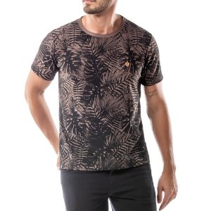 Camiseta Estampa Floral No Stress Nude