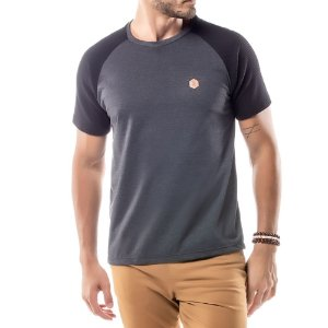 Camiseta Raglan Under No Stress Mescla Escuro