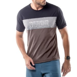 Camiseta Recortes Logo No Stress Nude