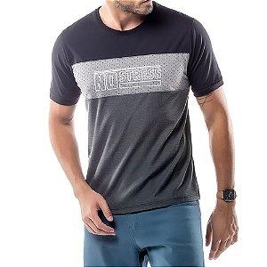 Camiseta Recortes Logo No Stress Cinza