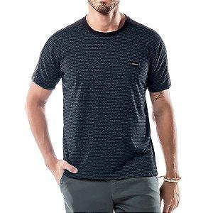 Camiseta Listras Twice No Stress Azul Marinho