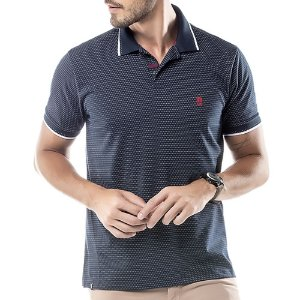 Camisa Polo New Finy No Stress Azul Marinho
