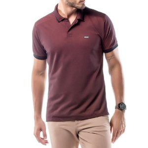 Camisa Polo Piquet Golden No Stress Vermelha