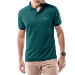 Camisa Polo Piquet Golden No Stress Verde