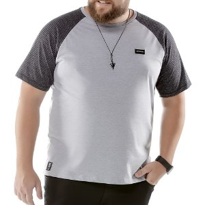 Camiseta Raglan Plus No Stress Mescla