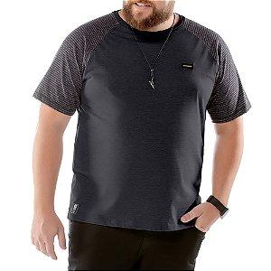 Camiseta Raglan Plus No Stress Preta