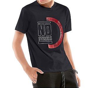 Camiseta Estampa Logo Menino No Stress Preta