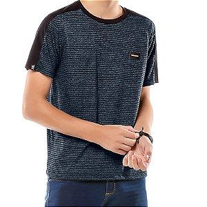 Camiseta Listras Twice Menino No Stress Azul Marinho