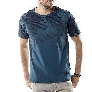Camiseta Estampa Floral TZE Azul