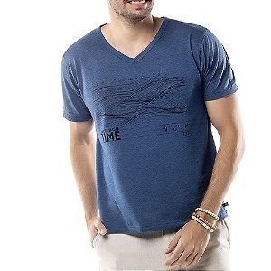 Camiseta Estampa Linhas TZE Azul