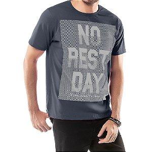 Camiseta Estampa NO REST DAT Frontal TZE Grafite