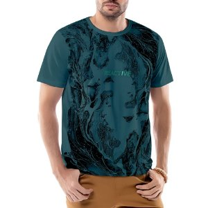 Camiseta Estampa Ondas TZE Azul