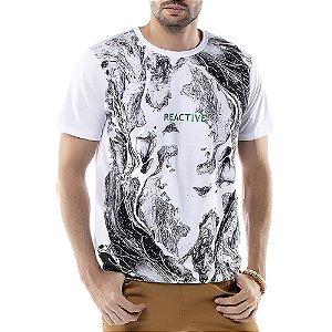 Camiseta Estampa Ondas TZE Branca