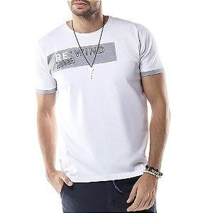 Camiseta Recorte REWIND TZE Branca
