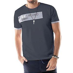 Camiseta Recorte REWIND TZE Grafite