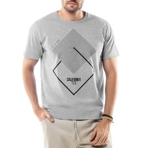 Camiseta Estampa Geométrica TZE Mescla