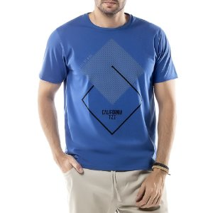 Camiseta Estampa Geométrica TZE Azul