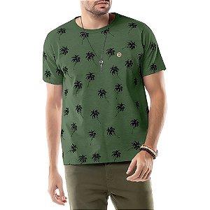 Camiseta Estampa Coqueiros TZE Verde