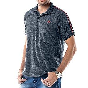 Camisa Polo Grega Ombro TZE Azul Marinho