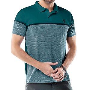 Camisa Polo Recorte Listy TZE Azul