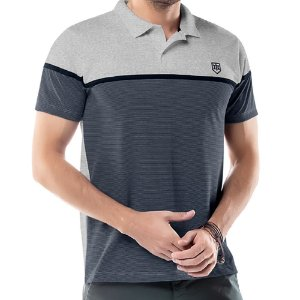 Camisa Polo Recorte Listy TZE Mescla