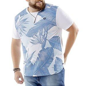 Camiseta Estampa Floral Plus TZE Branca