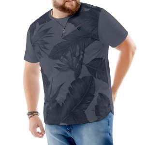 Camiseta Estampa Floral Plus TZE Grafite