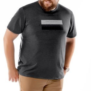 Camiseta Estampa Brilho Plus TZE Mescla Escuro